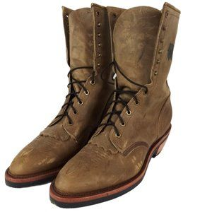 "Chippewa Men's 10"" Crazy Horse Packer Boot Vibram"